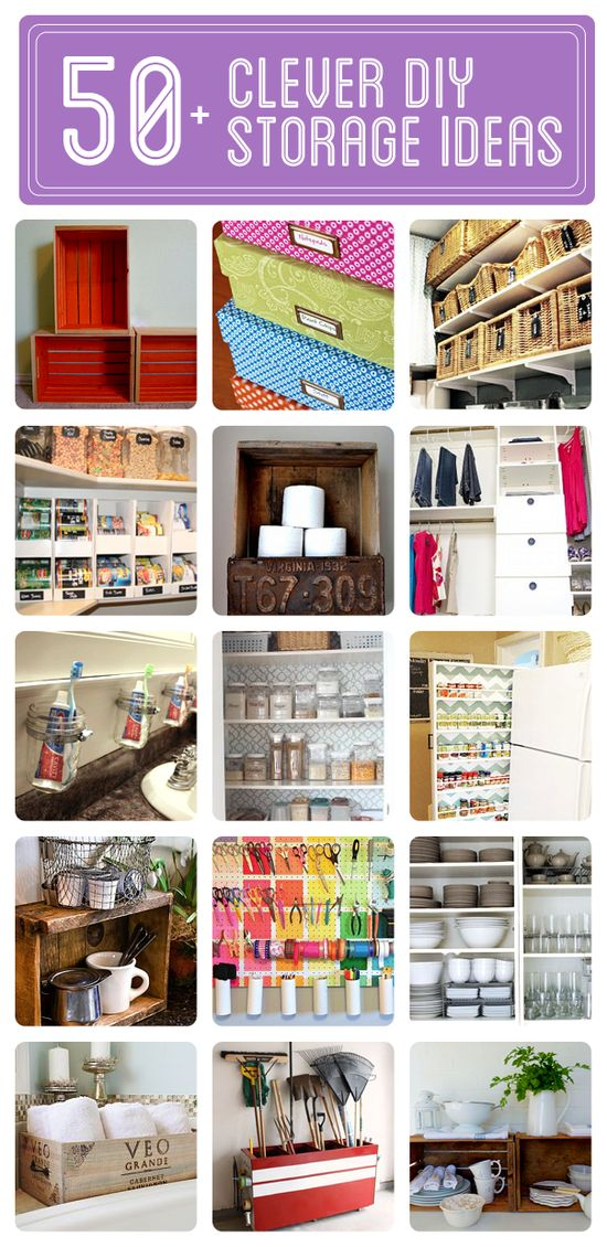 50+ Clever DIY Storage  Organization Ideas - Click to see them all!