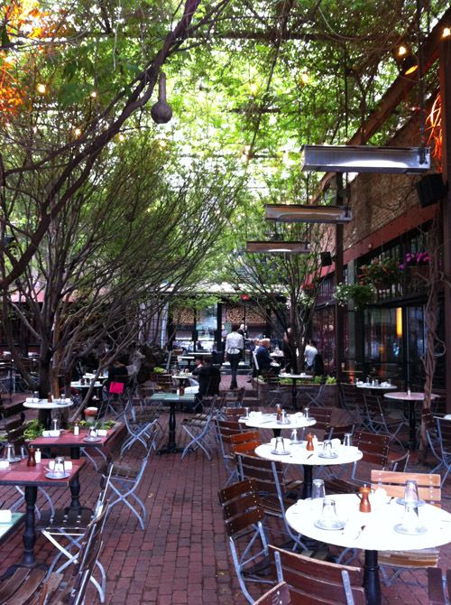 outdoor eating in Chelsea...The Park, Chelsea  My fav restaurant in NYC
