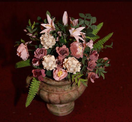 Deluxe Miniature Flower Arrangement Roses Lilies. by MiniMyEye, $90.00