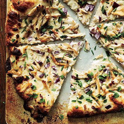 Cooking Light Chicken and Herb White Pizza