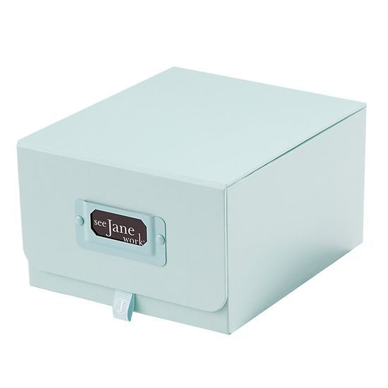 "See Jane Work Decorative Storage, Card Box, 6"" x 7"","