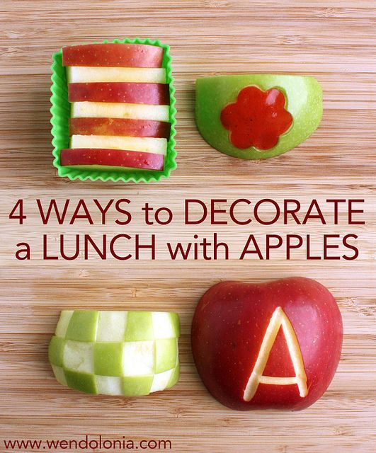 4 Ways to Decorate a Lunch with Apples by Wendy Copley, via Flickr