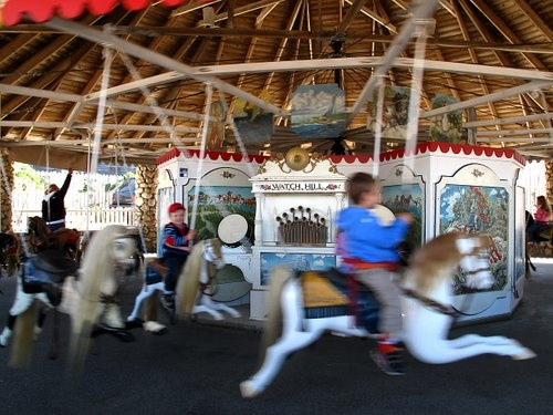 Kids Will Love the Ancient Flying Horse Carousel in Watch Hill, R.I.