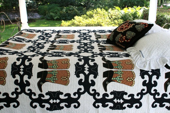 Judi Boisson handmade quilts -- Big Boots handmade quilts -- a lyrical ode to the American West