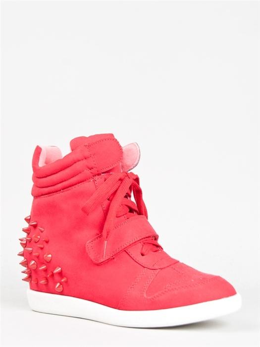 Qupid PATROL-21 Spike Wedge Sneaker –