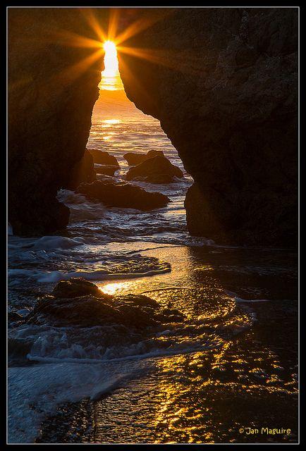 Sunset at Malibu, California