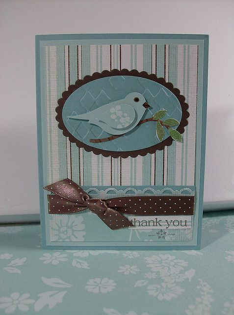 Stampin Up bird punch.