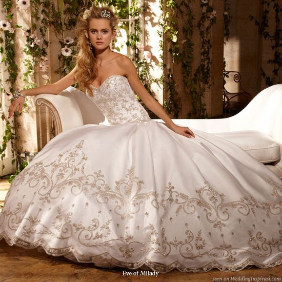 Beautiful ballgown - western wedding dresses by Eve of Milady bridals
