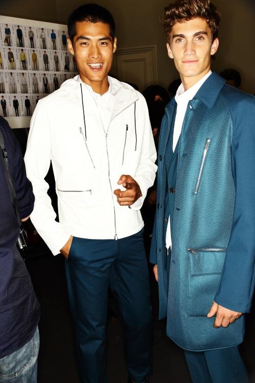 Hermes SS13 Men Fashion Show Paris Backstage