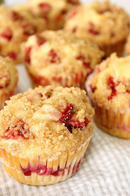 strawberry cheesecake muffins - because cheesecake is yummy in ALL its forms. :)