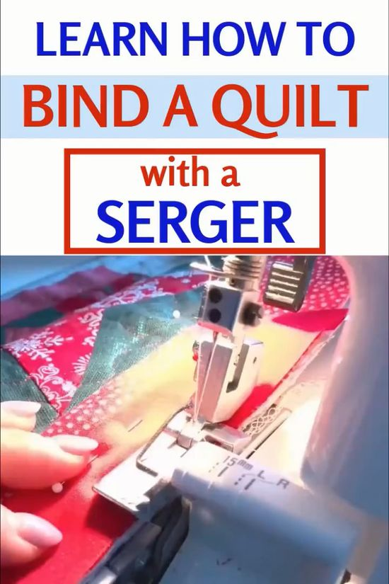 This YouTube sewing tutorial will focus on the following topics - how to sew quilt binding with a serger, how to bind a quilt with perfect mitered corners, how wide to cut quilt binding, how to join binding ends. Learn foolproof sewing techniques for fast and easy quilt binding.