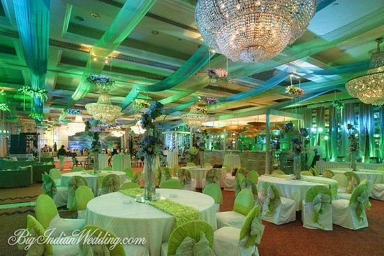 Magical Moments green-themed wedding reception