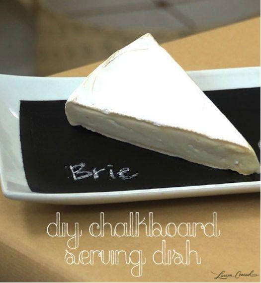 diy chalkboard serving dish
