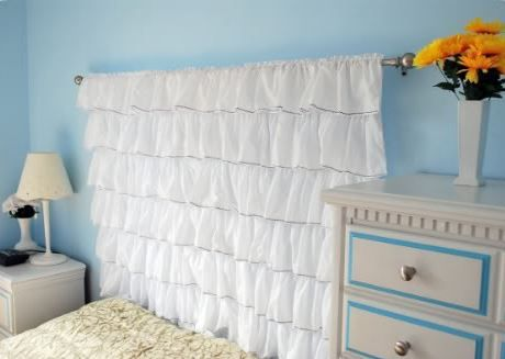 Bedroom Decoration with DIY Ruffled Pieces
