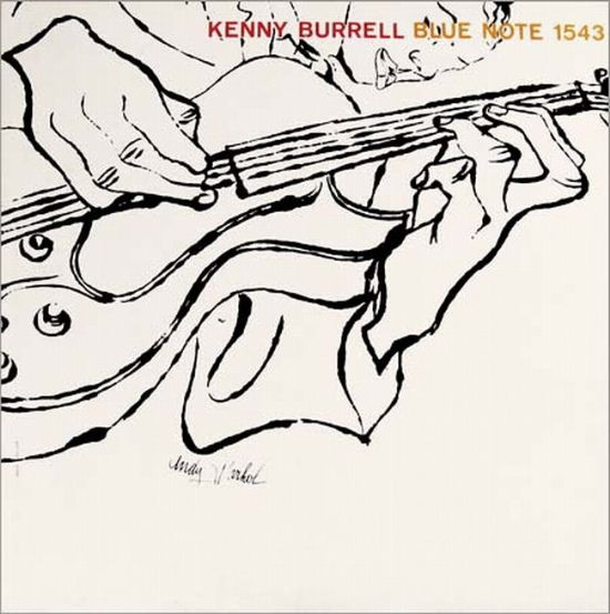 Andy Warhol's illustrated Jazz Album Covers - Kenny Burrell / Blue Note