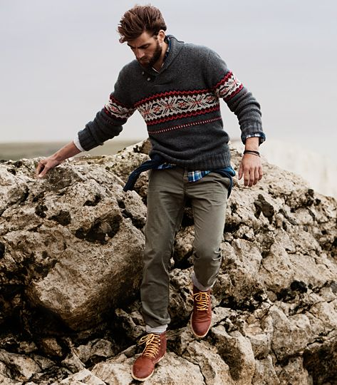 Mens Rugged Outdoor Fall/Winter Fashion.