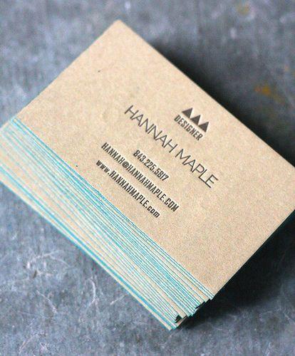 Hannah Maple, duplexed letterpress business card