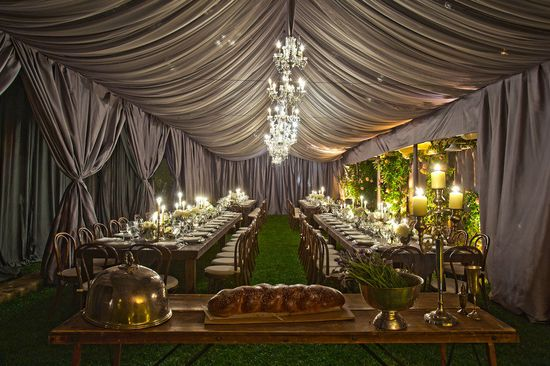 nice draping for the reception