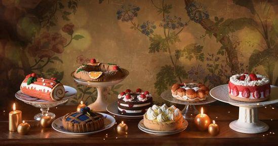 Dinette en feutrine: des gâteaux pour jouer à la marchande