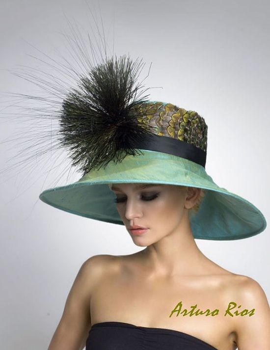 Couture Derby Hat Lampshade hat colors are nice
