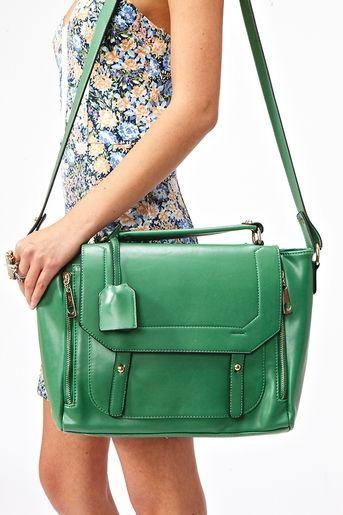 Blair Messenger Bag in Green