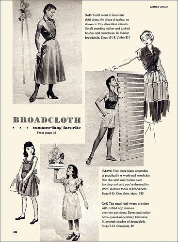 Broadcloth a summer-long favorite (image 2 of 2). #vintage #1950s #fashion #dresses