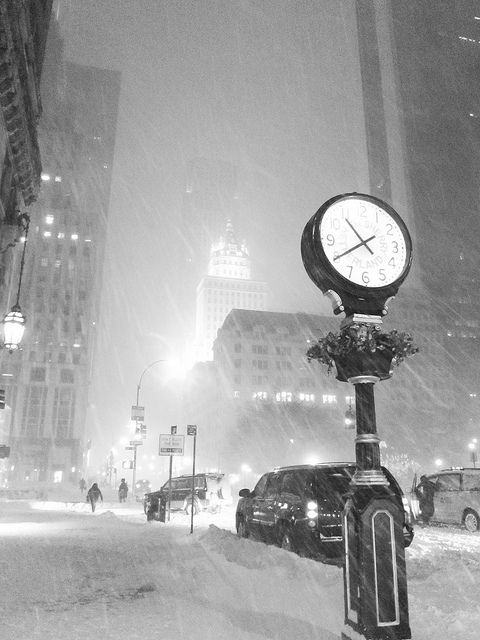 New York in white.  While this is an old photo, it still evokes the feeling of what NYC feels like in a snowstorm, even today.