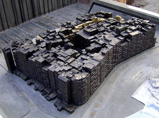 Kowloon walled city model.