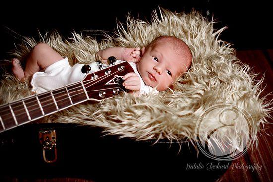 #newborn #baby #boy #guitar #photography