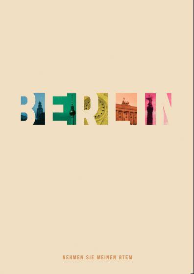 Typographic treatment of Berlin, Germany