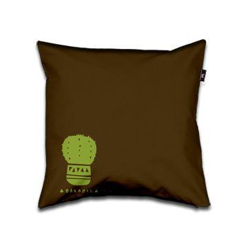Organic Pillow 40x40 brown and green dettagli home design