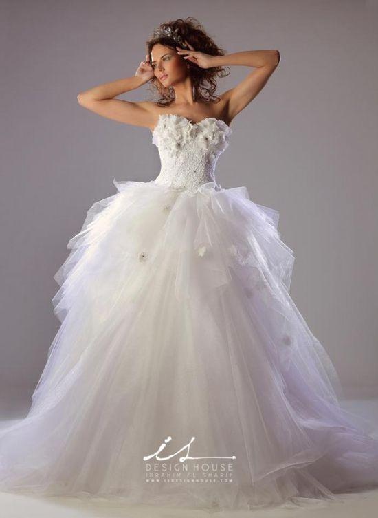 Innovative wedding dresses by IS Design House white wedding dresses www.finditforwedd...
