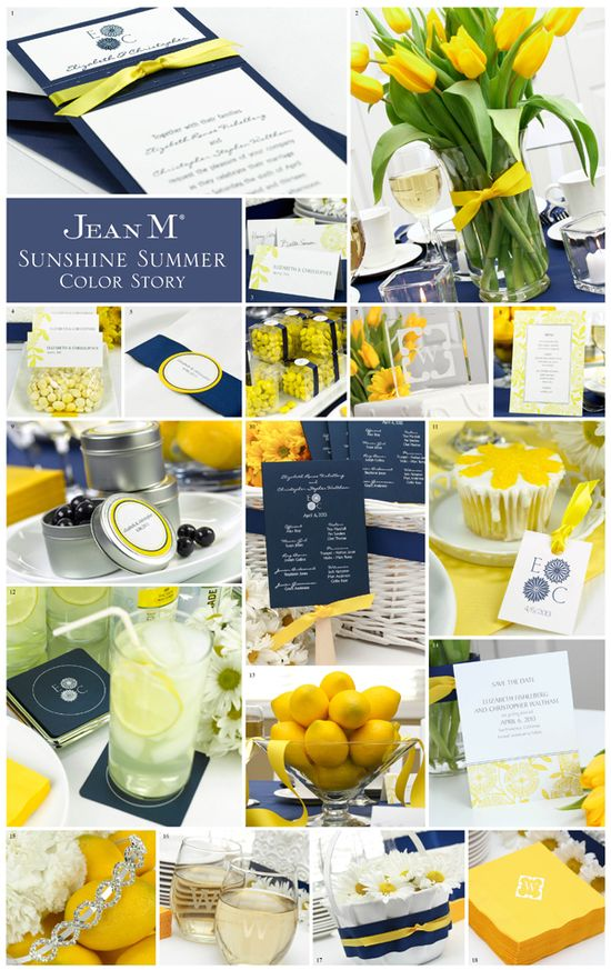 yellow and blue wedding theme