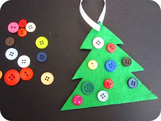 Homemade Button Christmas Tree Ornament on hands on : as we grow