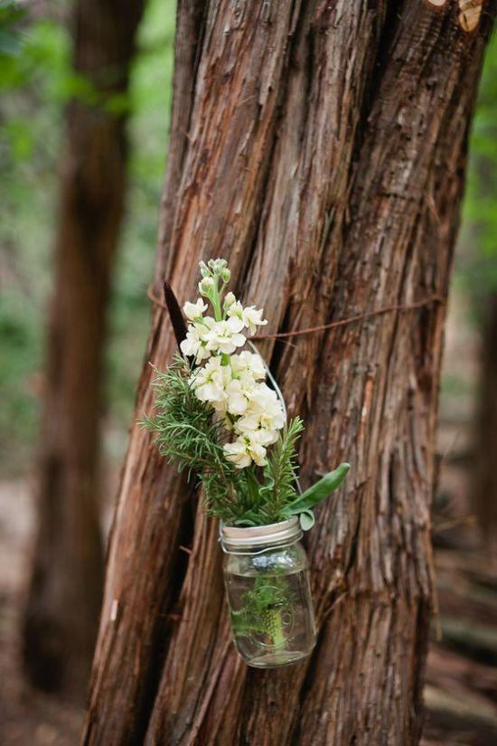 mason jar + country flowers