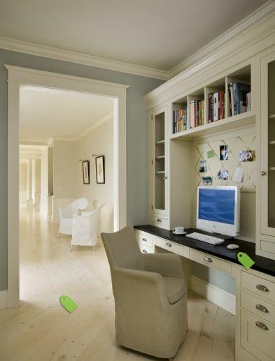 built in desk for living room