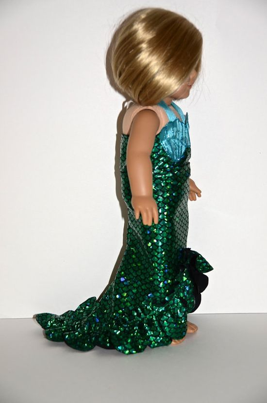 American Girl Doll Clothes - Doll Mermaid Costume