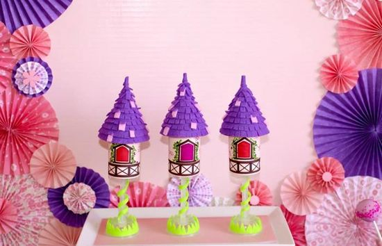 Love these push pops at a Tangled Inspired Party with Lots of Super Cute Ideas via Kara's Party Ideas