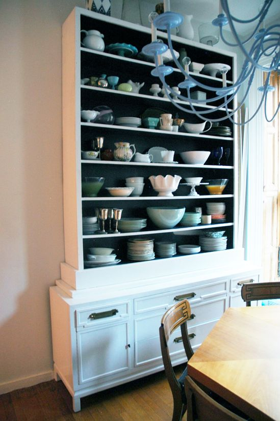 Make-Shift Dining Room Hutch