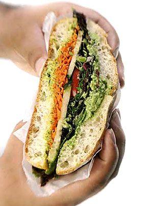 Edamame sandwich - Vegan