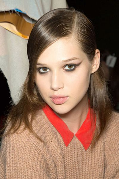 winged eyes are all the rage #beauty #ThierryMugler