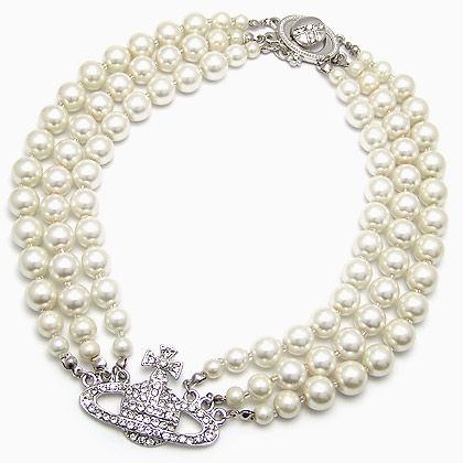 Wholesale South Korean star - three diamond pearl necklace Saturn,Custom Necklace,E71136