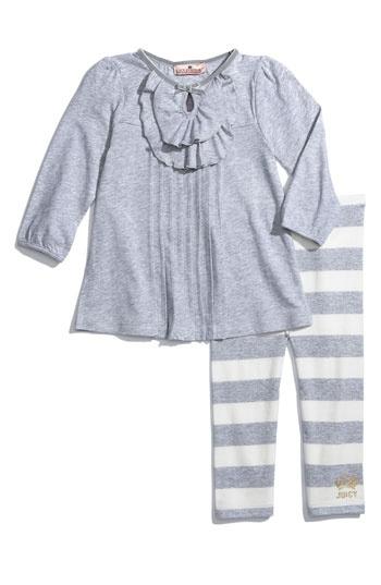 Juicy Couture 'Cozy Heather' Top & Legging Set
