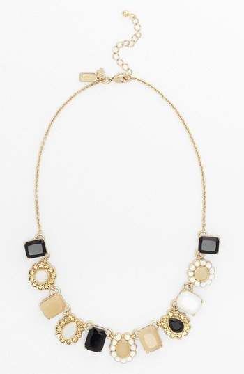 kate spade new york 'run around' framed stone collar necklace