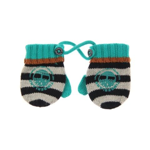 Timberland Baby Boys Navy Stripe Knitted Mittens