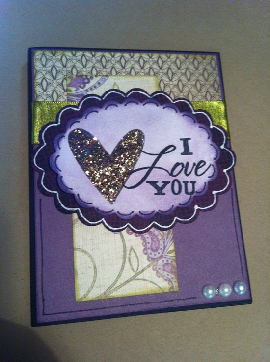 I Love You Sonoma Purple and Green A2 Card by LiveTeachCreate, $3.50