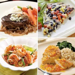 Get a healthy, delicious 500-calorie dinner on the table in 30 minutes or less. Check out our collection of menus for 500-calorie, 30-minute dinners! #healthy #quick #dinner @EatingWell Magazine
