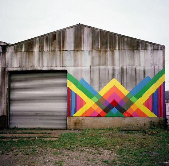 Barn piece - Maya Hayuk