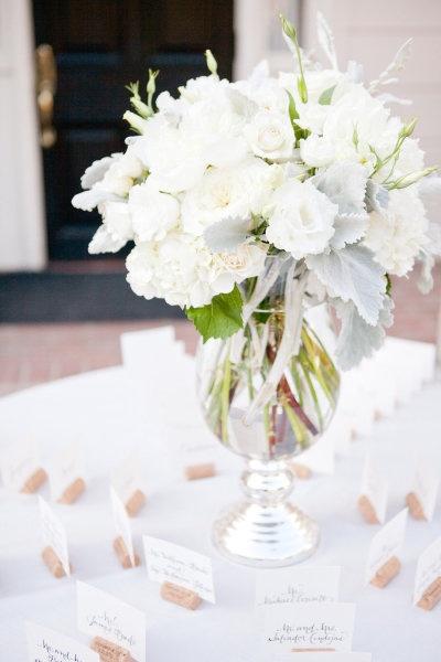 Romantic White Centerpiece