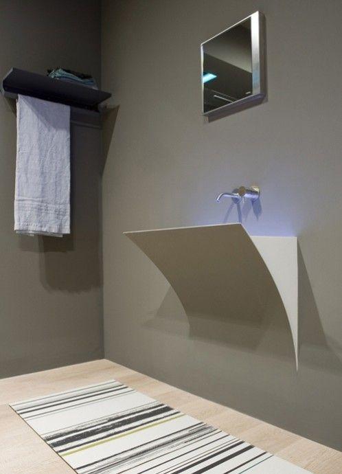 nowoczesna i nietypowa umywalka